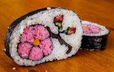 how to make flower sushi art ama