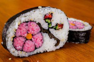 how to make flower sushi art ama